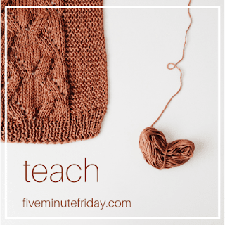 give minute friday teach knitting sweater or scarf with heart