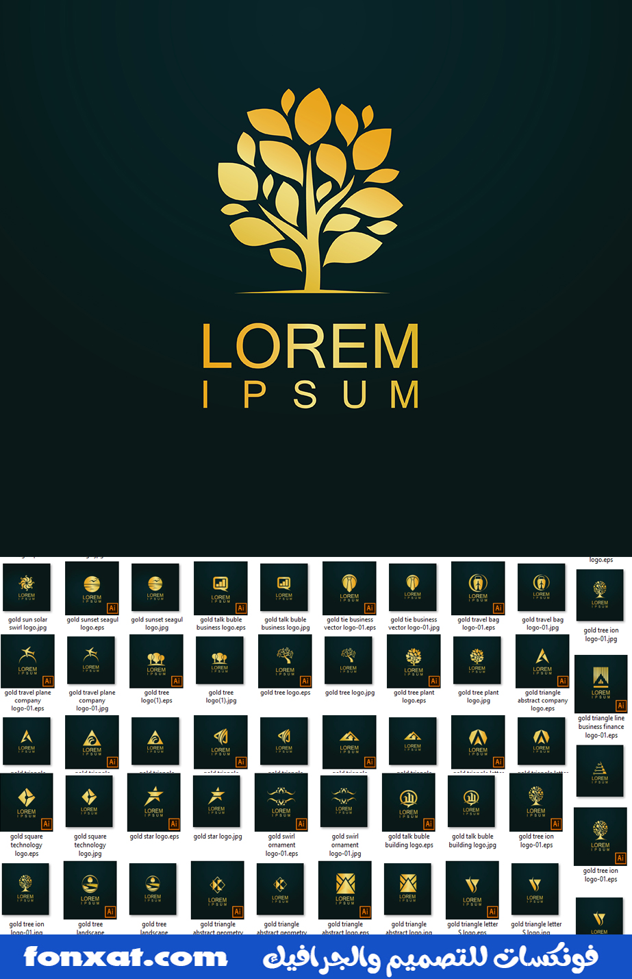 Creativity and professionalism in the most beautiful logo designs