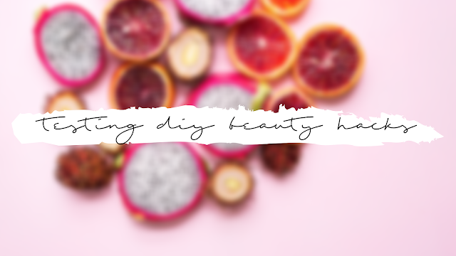 title of the blog post on a background of fruit