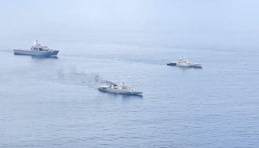 India did naval maneuvers