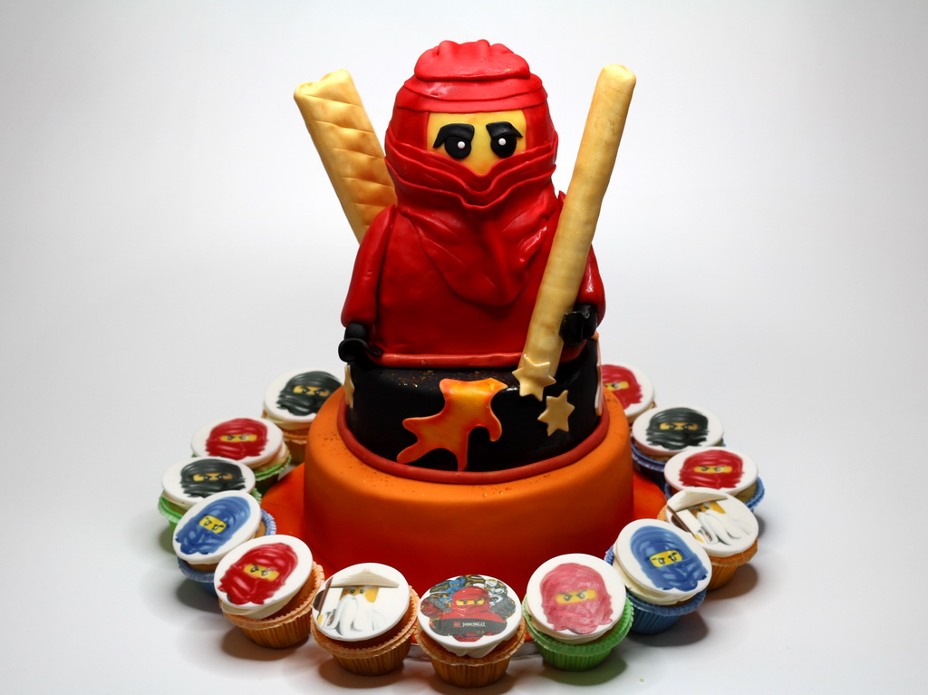 London Patisserie Ninjago Birthday Cake with Cupcakes