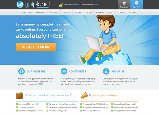 GPTPlanet PTC Paid To Click