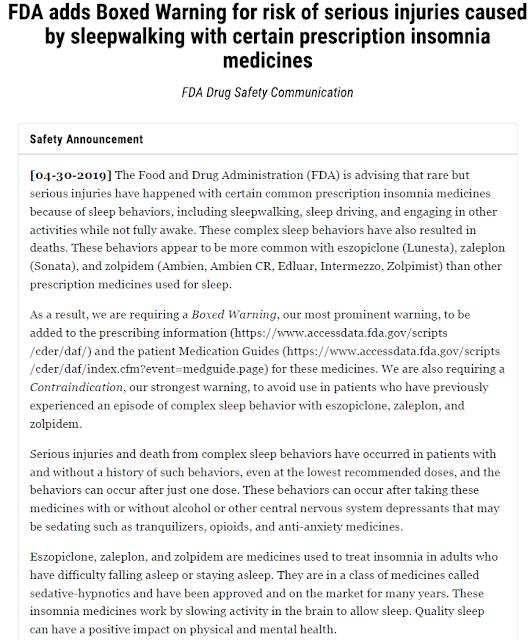 מינהל המזון והתרופות האמריקאי מתריע מפני תופעת לוואי של כדורי שינה: ביצוע פעולות מסוכנות מתוך שינה