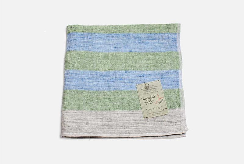 asciugamano di lino verde
