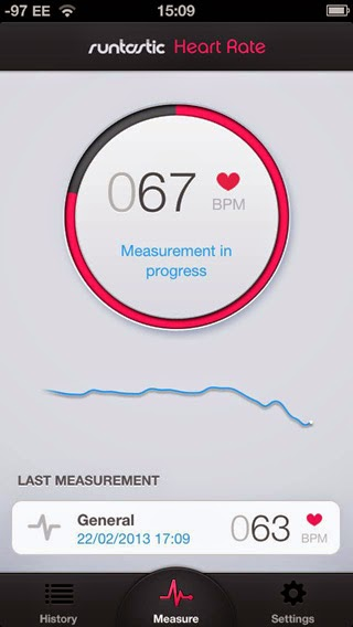 Ứng dụng Đo Nhịp Tim Cơ Thể Runtastic Heart Rate PRO