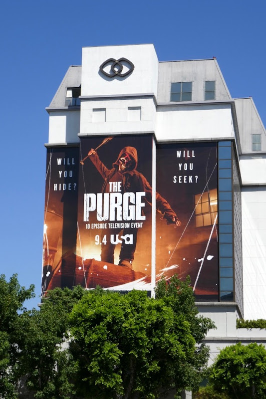 Purge series launch billboard