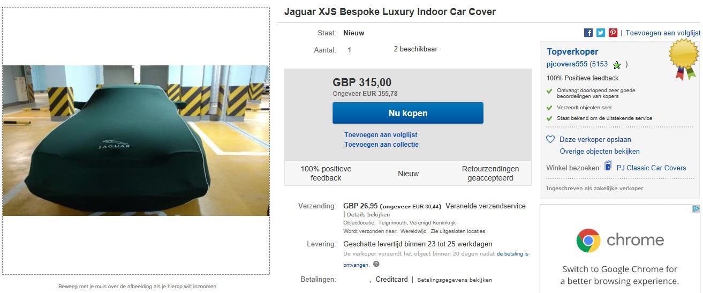 Jaguar Xjs Car Cover Wing Cover