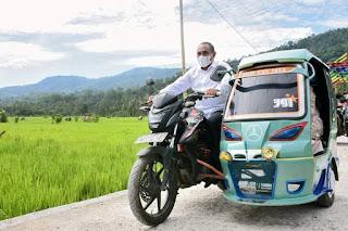 Gubernur Edy Rahmayadi Bawa Betor Khas Madina Kunjungi Wisata Sawah Sabarang