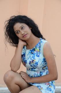 Actress Priyankha Stills in Floral Short Dress at Golmal Gullu Movie Pressmeet 0255.JPG