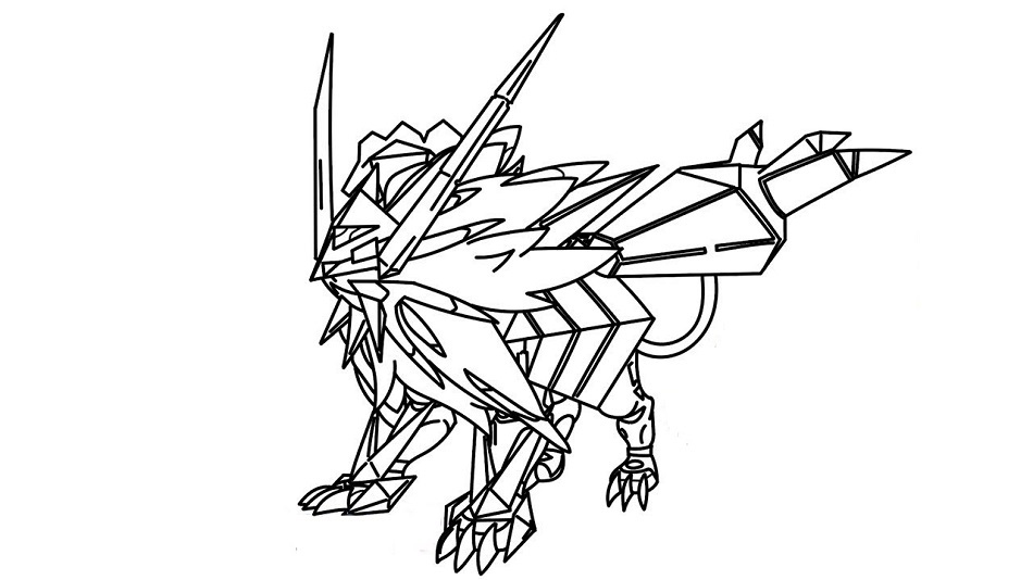 Click The Dusk Mane Necrozma Coloring Pages To View Printable