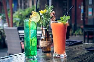lime juice and fruit shake