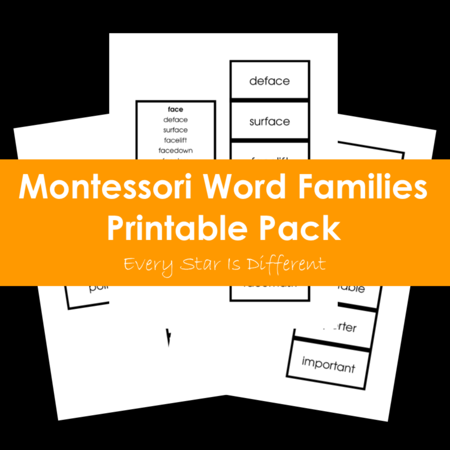 Montessori Word Families Printable Pack