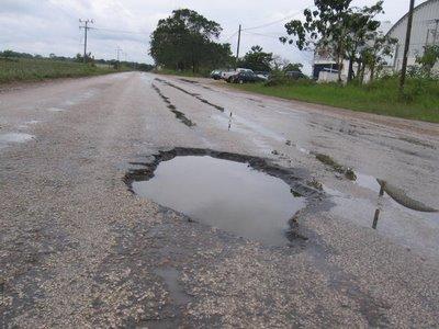 Resultado de imagen para imagen de carretera en mal estado