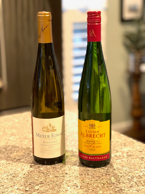 Two bottles of wine from Alsace, France
