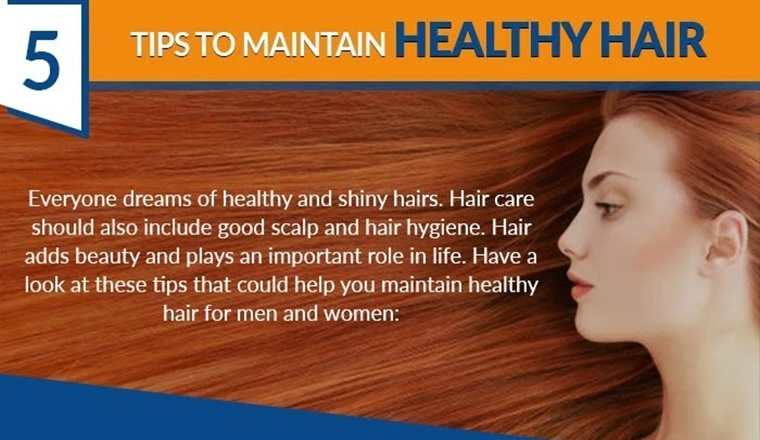 5 Tips To Maintain Healthy Hair! #Infographic