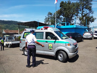Karyawan Perumda Tirta Jaya Mandiri kabupaten Sukabumi mengikuti Vaksinasi