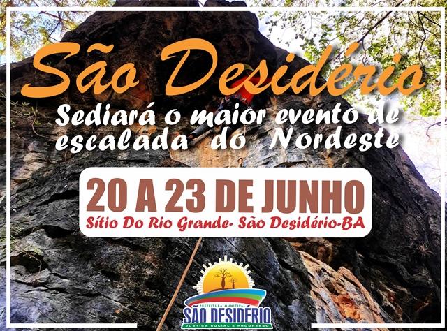 Com apoio da Prefeitura Municipal, São Desidério sediará o maior evento de escalada do Nordeste