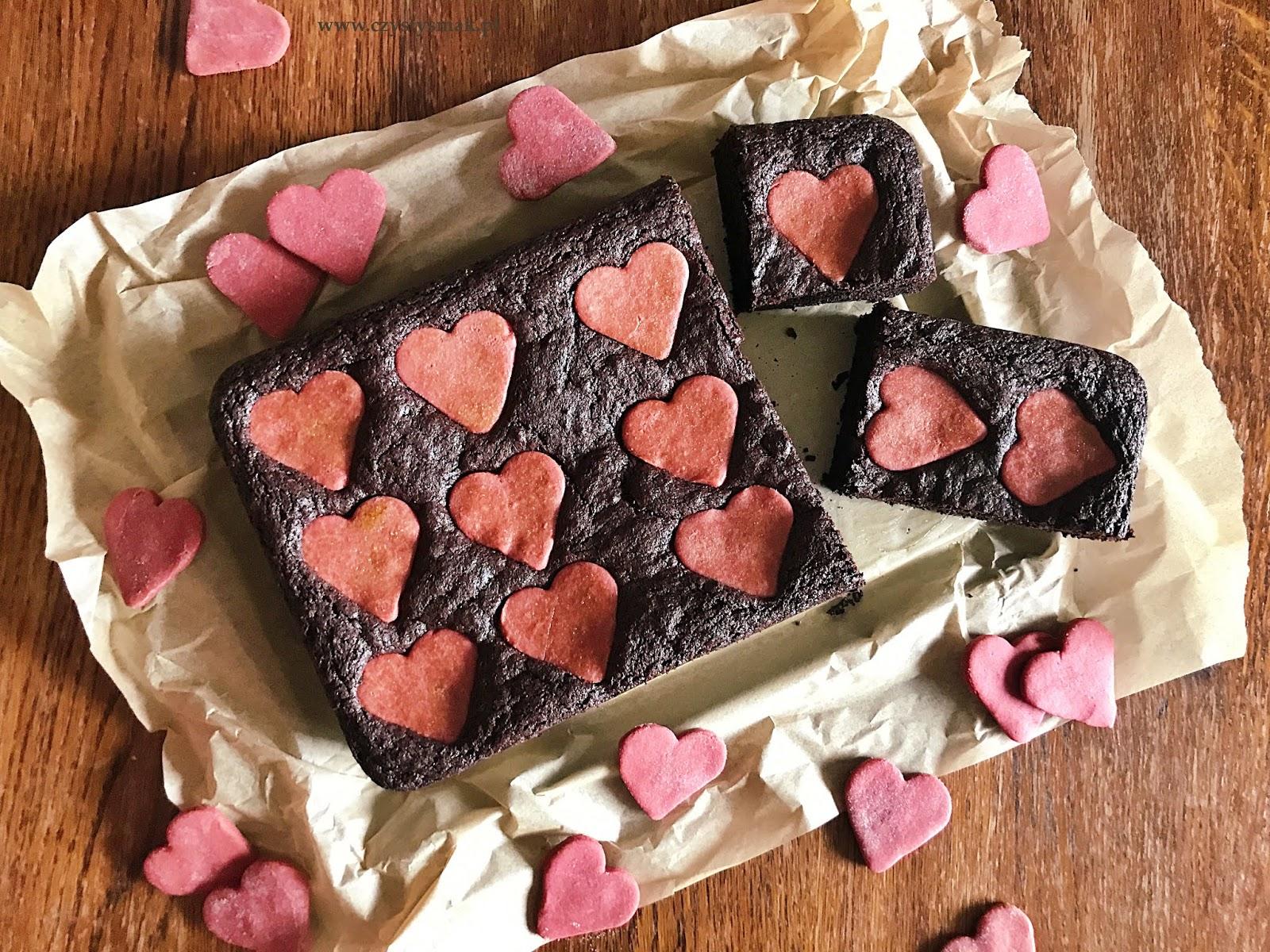 Brownie walentynowe