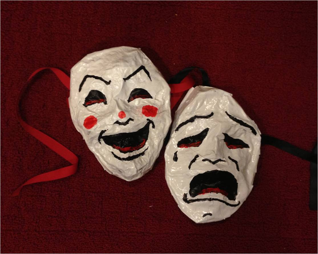 philosfx theater masks a fun diy papier mache project. Black Bedroom Furniture Sets. Home Design Ideas