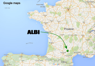 Mapa Albi