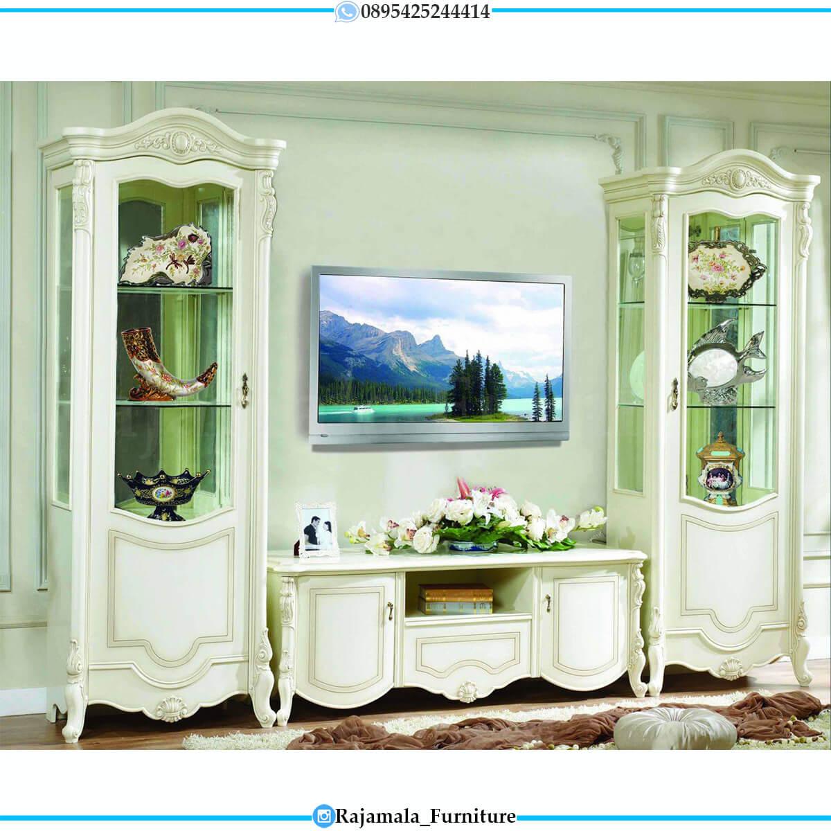 Bufet TV Mewah Putih Duco Elegant Luxury Design RM-0655