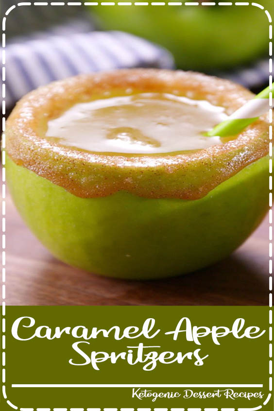 t even need a cup to make this green apple spritzer from Delish Caramel Apple Spritzers