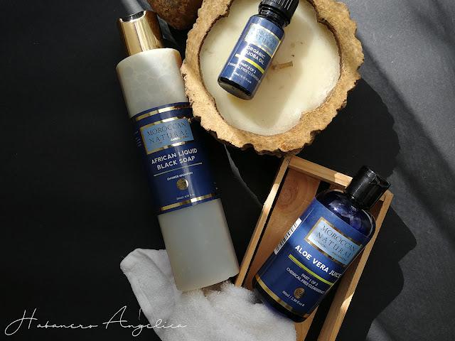 Moroccan Natural London prodotti Naturali aloe vera sapone nero olio jojoba