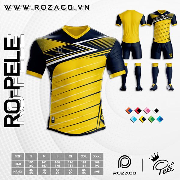 Áo Không Logo Rozaco RO-PELE Màu Vàng