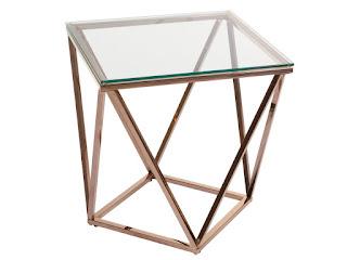 mesa baja auxiliar oro cristal