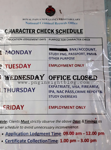 how to obtain police clearance check PNG