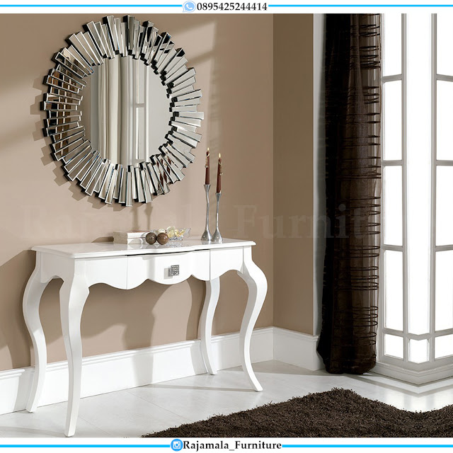 Meja Konsul Minimalis Putih Classic Luxury Jepara Terbaru RM-0415