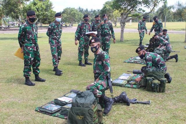 Pengawasan dan Evaluasi Pembinaan Satuan Tim Pussenkav Kodiklat TNI AD di Yonkav-5 DPC Karang Endah