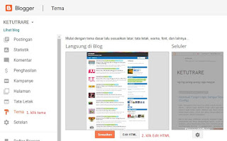 dashboard edit tema di blogger