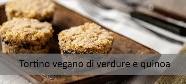 Tortino vegano di verdure e quinoa