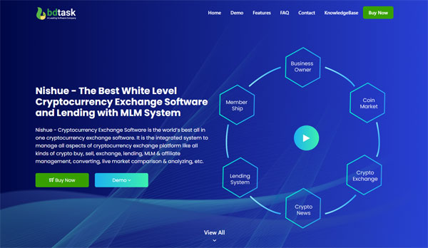 Nishue - CryptoCurrency Buy Sell Exchange and Lending with MLM System | Crypto Investment Platform