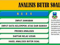 Download Gratis File : Aplikasi Analisis Soal Ulangan Harian, UTS, UAS dan UKK