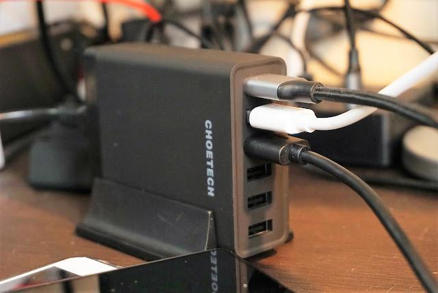 【CHOETECH充電器】縦置きで利便性もバッチリ。QuickChargeも対応のCHOETECH6ポート充電器レビュー!