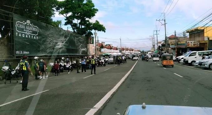 HPG nagtayo ng checkpoint sa Tagaytay City Market
