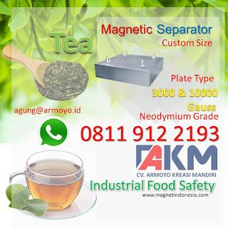 Magnet Plate Untuk Industri Teh