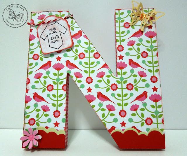 Letras decoradas para naia manualidades - Letras de corcho decoradas ...