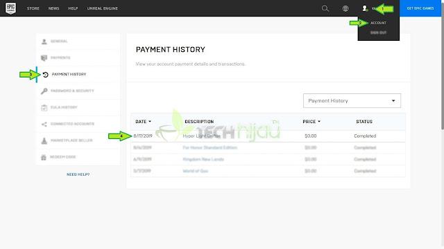 Hyper Light Drifter Halaman payment history - Tech Hijau™