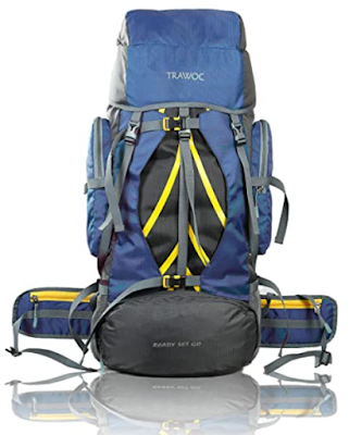 TRAWOC 60 Ltr Travel Rucksack Bag Useful Backpack for Hiking, Trekking and Such Outdoor Activities