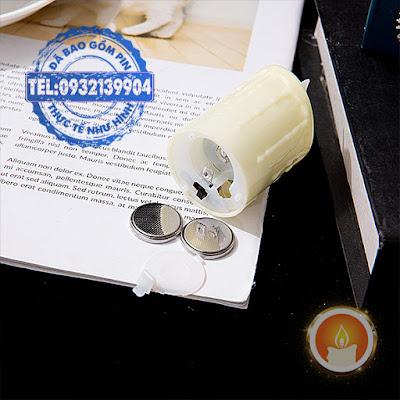 Đèn tealight pin tim đèn lắc lư