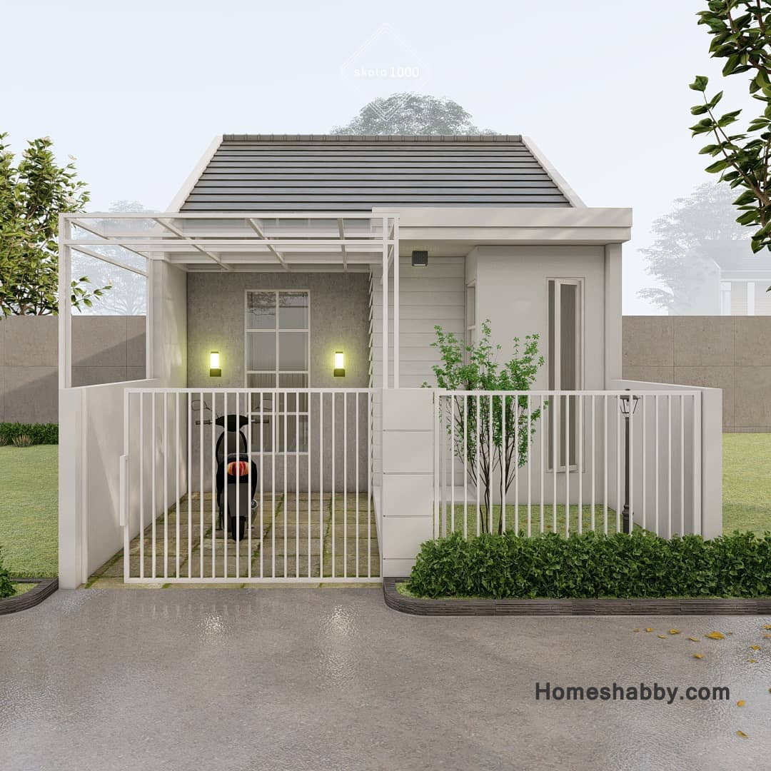 Desain Rumah Minimalis Hemat Biaya Dengan Luas Bangunan 50 M2 Dan Luas  Tanah 6 X 12 M Lengkap Dengan Denah ~ Homeshabby.com : Design Home Plans,  Home Decorating And Interior Design