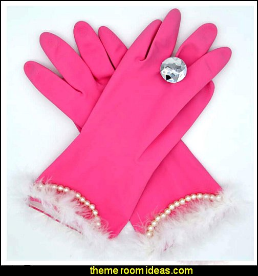 glam dishwashing gloves