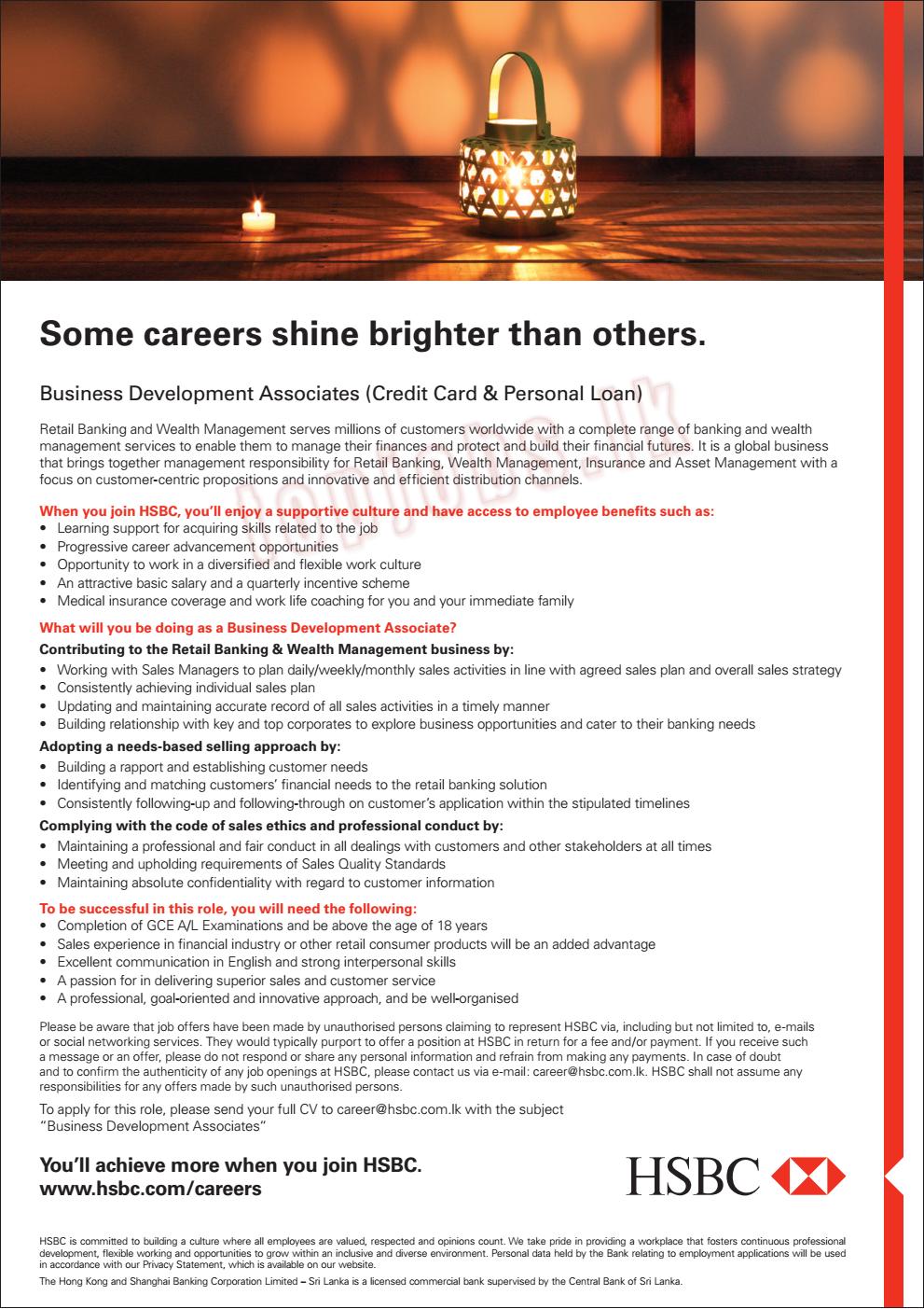 Vacancies in HSBC