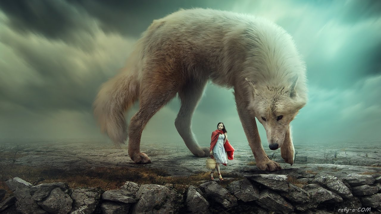 Big Wolf Photoshop Manipulation by rafy A