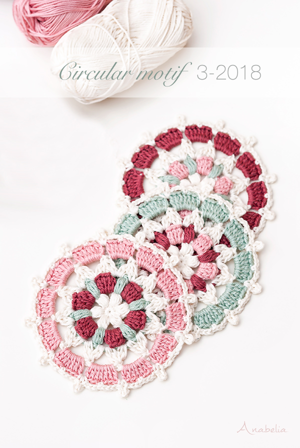 Japanese inspiration circular motif crochet pattern, Anabelia Craft Design
