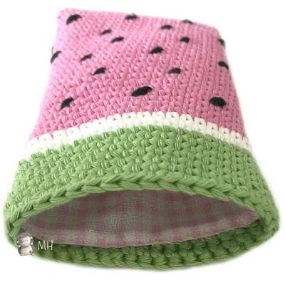 Funda a crochet para móvil