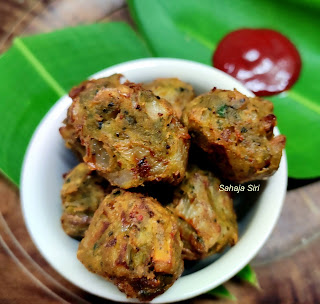 Onions & drumstick leaves fritters